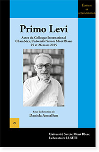 Primo Levi. Actes du colloque international de Chambéry